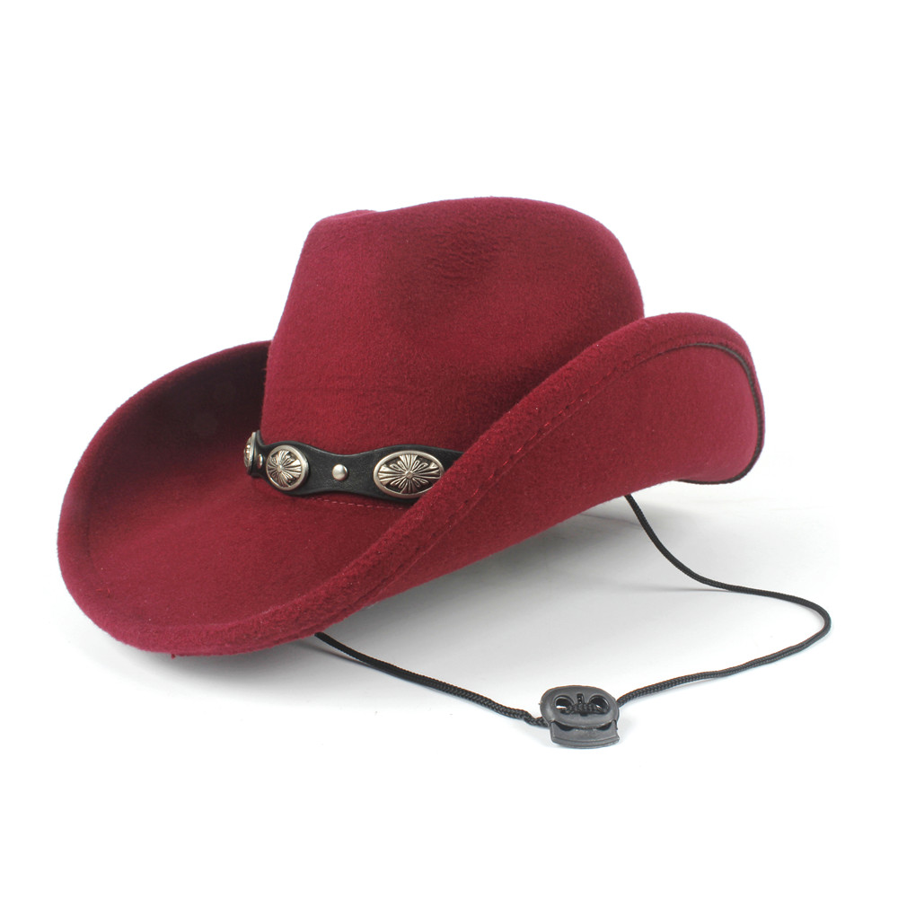 2019 Neue Frauen Männer Wolle Hohl Western Cowboy Hut Roll-up Krempe Gentleman Fedora Outblack Sombrero Hombre Jazz Kappe Wind Seil