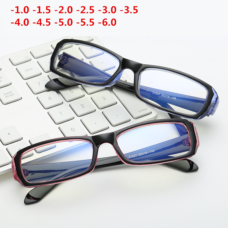 -1.0 ~-6.0 Coating Finished Myopia Glasses With Degree Women Men Short-sight Eyewear Frame With Diopter Sighted Prescription