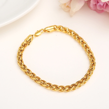 Gold Color Chain Bracelet bangle Men Jewelry Gift Wholesale 6MM Hand Chain  Link necklace  Bracelet Trendy Boys hip Hop gifts billie eilish bad guy bracelet popular young singer art picture hip hop music glass cabochon chain bangle jewelry for fans gift