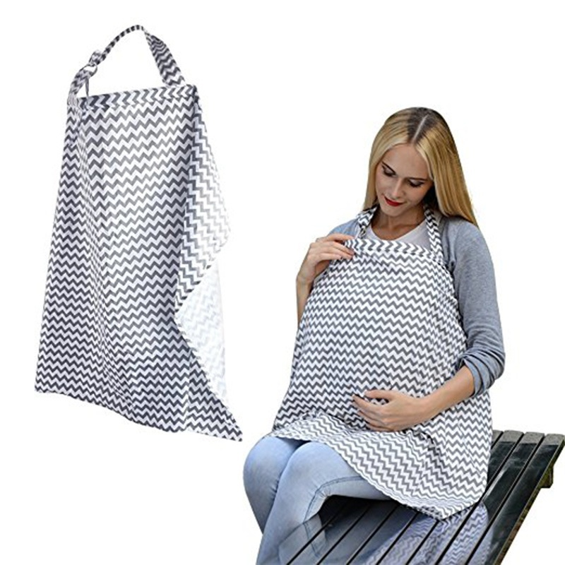 Breathable breastfeeding cover cotton muslin Mother feeding babys apron Mommys outdoors feeding baby breast nursing cover