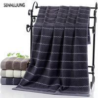 SENNLLJUNG 3 Pieces Water Ripple Luxury Cotton Towel Set Face Towel Bath Towels For Adults High