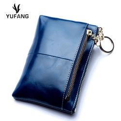 Yufang Пояса из натуральной кожи Для женщин портмоне из натуральной кожи Изменить бумажник природные коровьей ежедневно деньги сумка женская