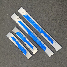 цена на 4pcs/set Stainless steel exterior door sill strip fit for S-CROSS Threshold trim welcome pedal Scuff plate guard cover
