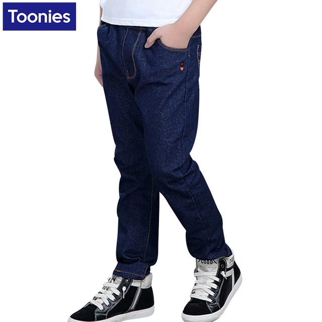 2017 Nova Chegada Crianças Calça Jeans Meninos Roupas de Outono Inverno Espessamento Meninos Calças Jeans Roupa Dos Miúdos Meninos Adolescentes Calças Quentes
