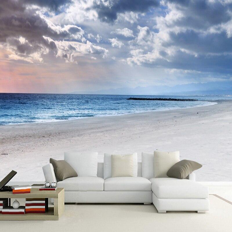 Настенная бумага на заказ, 3D обои с изображением Морского Пейзажа, для гостиной, столовой, нетканый декор для стен