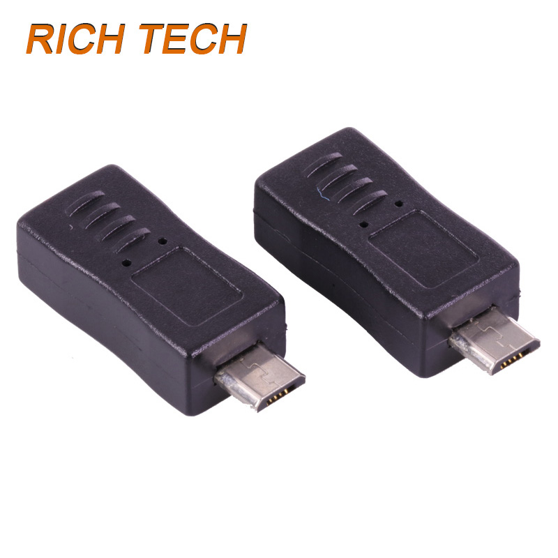 15 pcs Micro USB male plug to Micro USB 5pin female jack connector using as computer adapter electrical parts