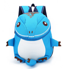 21*29cm 3D Cartoon Plush Children Backpacks Dinosaur kindergarten Schoolbag Animal Kids plush Backpack School Bags one piece