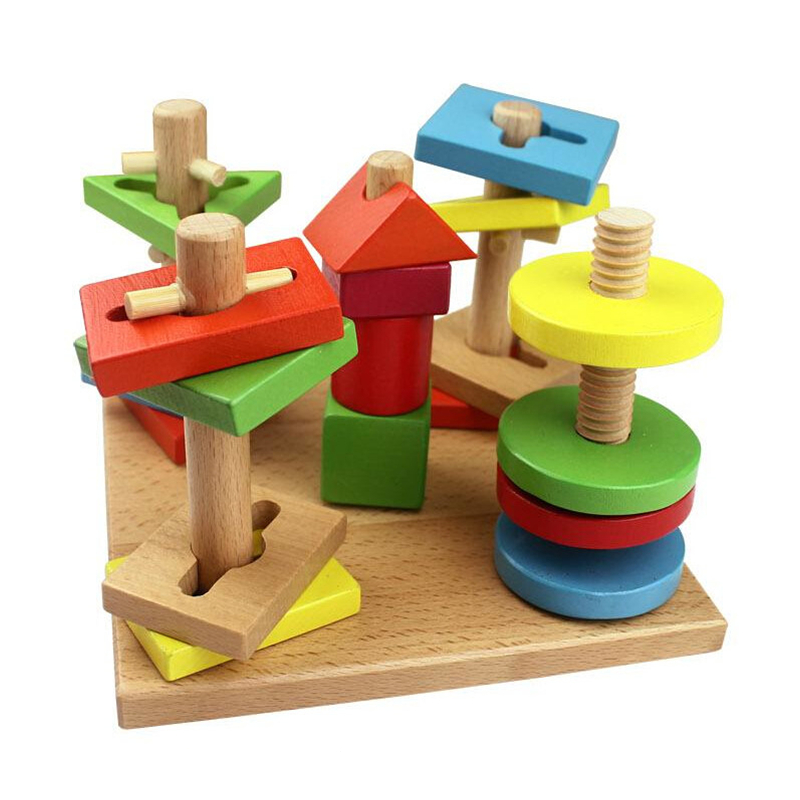 Educational Toys For Toddlers 2 4 : Baby toys montessori materials educational game blocks