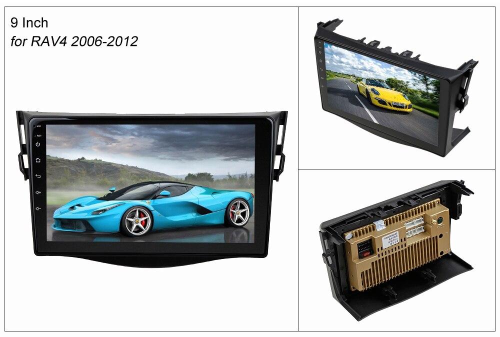 SINOSMART 2.5D IPS/QLED Screen Car Audio Navigation GPS Player for Toyota RAV4 2006-2019, 32EQ DSP, 4G SIM Card Slot Optional