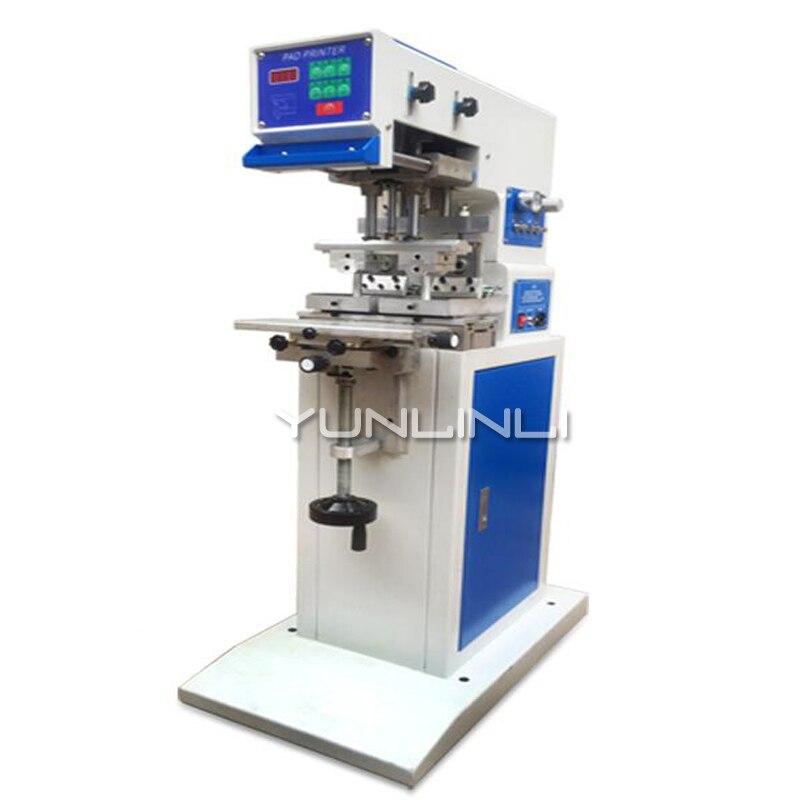 GB-C5 Type 2 Double bac à huile pneumatique Double tête d'impression grattoir Type deux couleurs tampographie Machine de codage