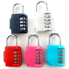 Travel backpack suitcase password lock dormitory door gym cabinet anti-theft padlock Metal Mini lock head small mini lock solid plastic case copper padlock travel tiny suitcase and lock with 2 keys have 8 colors home accessories