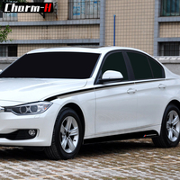 Car Styling M Performance Side Stripes Black Silver Film Vinyl Decals Side Skirt Stripes Stickers for BMW F30 F31 3 Series