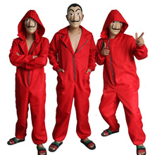 Salvador Dali Movie Costume Money Heist The House of Paper La Casa De Papel Cosplay Halloween Party Costumes with Mask