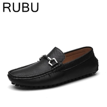 Spring New Mens Casual Round Toe Leather famous designer Flats Driving Shoes for Men Breathable Boat Loafers Chaussure Homme /03