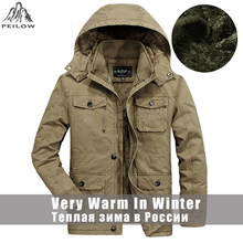 Plus Size L 6XL,7XL,8XL winter jacket men Thicken Fleece Warm 100% Cotton Fur Hooded Men Parka Outwear mens  Jackets and Coats