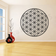 Vinyl Wall Sticker Mandala Decal Flower Of Life Stickers for Living Room Muslim Pattern DecorZW265