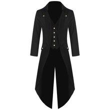 Men's Coat Jacket Steampunk Men Punk Retro Tuxedo Male Tailc