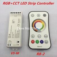 RGB + CCT Led streifen Controller DC12 24V 5CH RGB + CCT 2 4G remote Led leiste Controller für RGB + CCT Led streifen licht-in RGB-Controller aus Licht & Beleuchtung bei