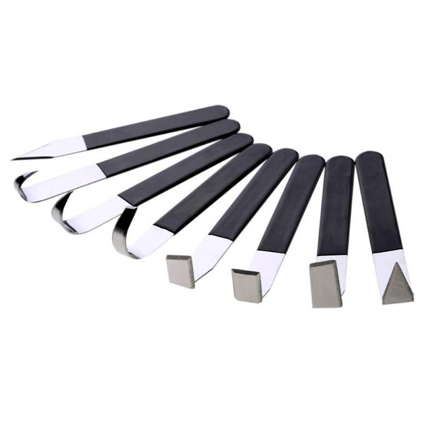 8Pcs Stainless Steel Pottery Clay ceramic tools Sculpture Carving with Rubber Handle Modeling Clay Tools