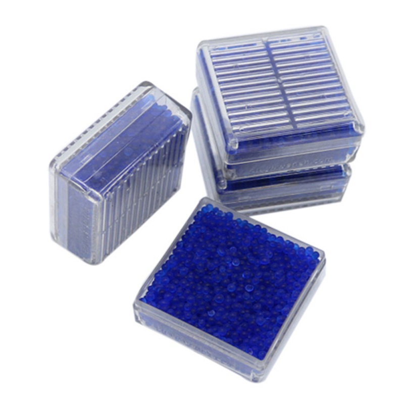 1pc Reusable Moisture Absorbent Box Silica Gel Desiccant Box With Color Changing Indicating Moisture-proof Beads Anti-mold Agent