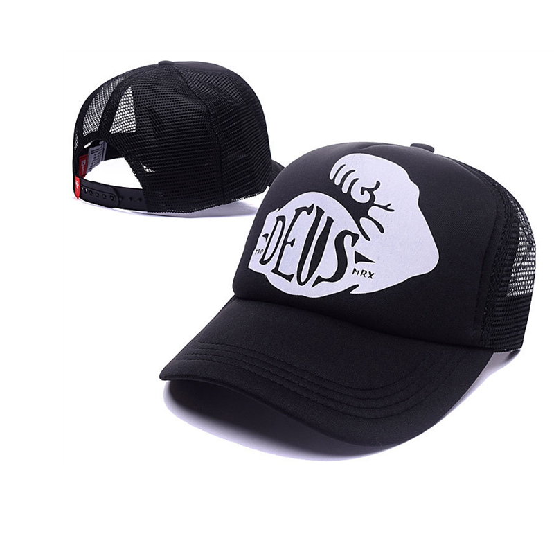 2016 Brand New! Deus Ex Machina Baylands Trucker Snapback Men Women Bboy Girls Mesh Sports Hat Hiphop God Pray Ovo Cap Black