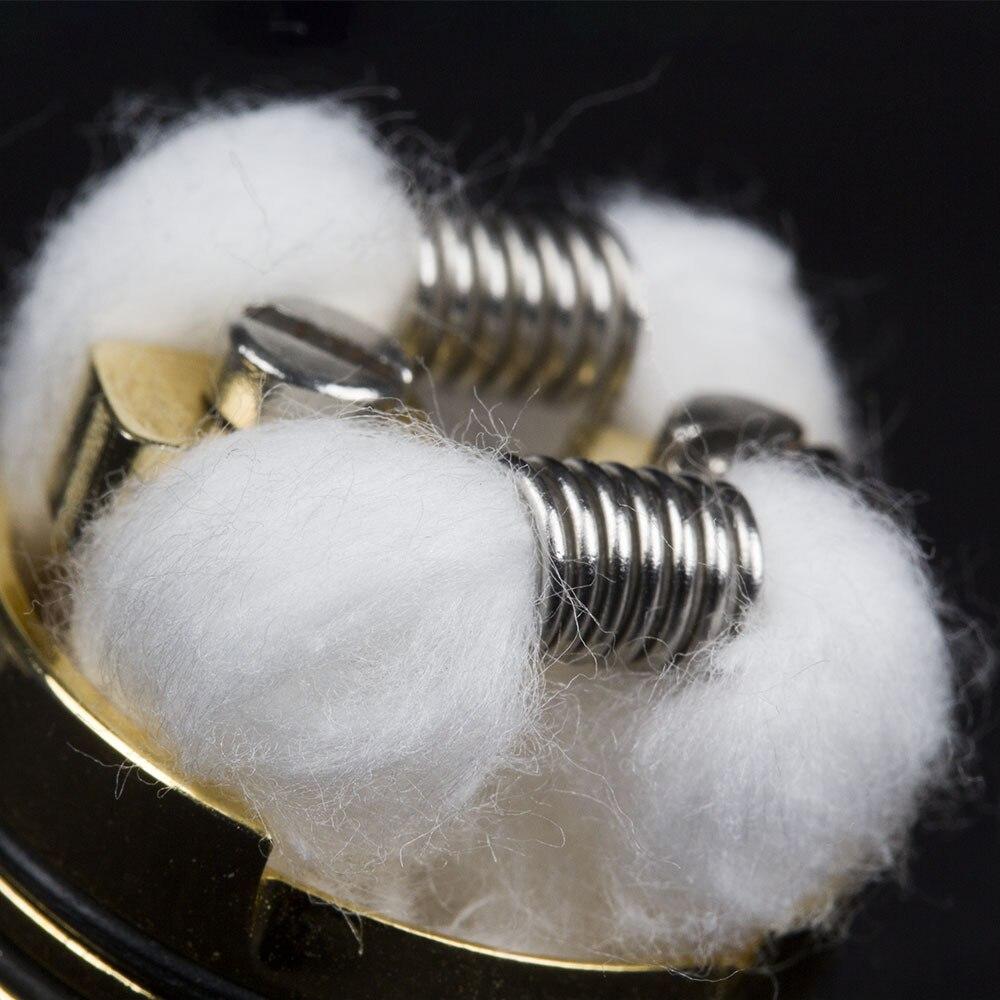 200pcs Vape Cotton prebuilt organic cotton for replacement reload rta RDA RBA RDTA Atomizer