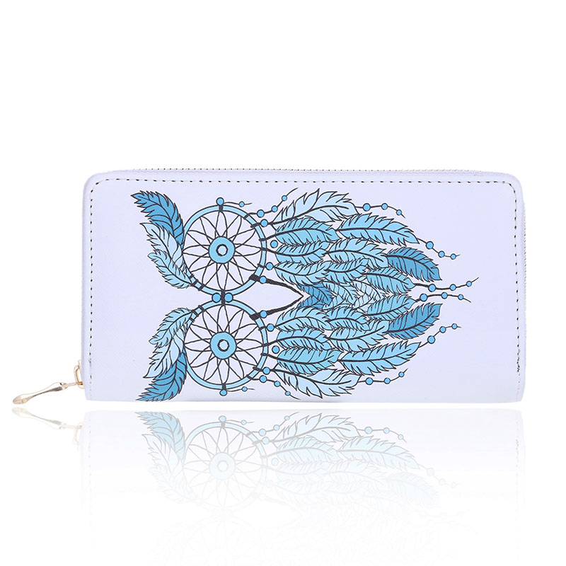 Retro Zipper PU Leather Bags Famous Brand Designer Owl Wallet Long Leather Wallets For Women Ladies Bolsas Animal Print Wallet famous brand long pu leather wallets