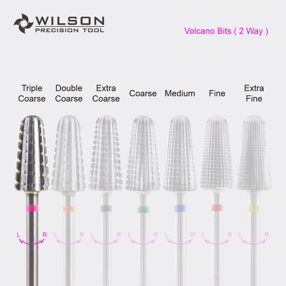 Volcano Bit (Fastest Remove Acrylics or Gels) 2 WAY - WILSON Carbide Nail Drill Bit volcano bit fastest remove acrylics or gels one directional for right hand use only wilson carbide nail drill bit