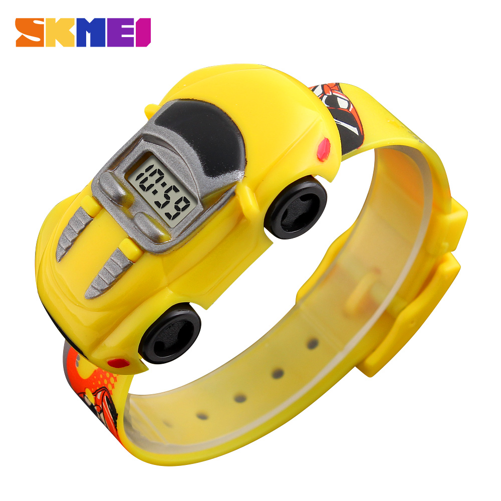 Hot SKMEI Brand Fashion Creative Digital Sport Kids Watch Boys Girls Cartoon Car Wristwatches Relogio Masculino Children Watches