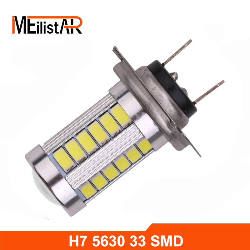 1x Car led H7 5630 12V Bulb Super Xenon White Fog Lights High Power Car Headlight Lamp parking Car Light Source DRL Car styling