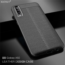 For Cover Samsung Galaxy A50 Case for Leather Rubber Silicone Shockproof Soft TPU Bumper Phone