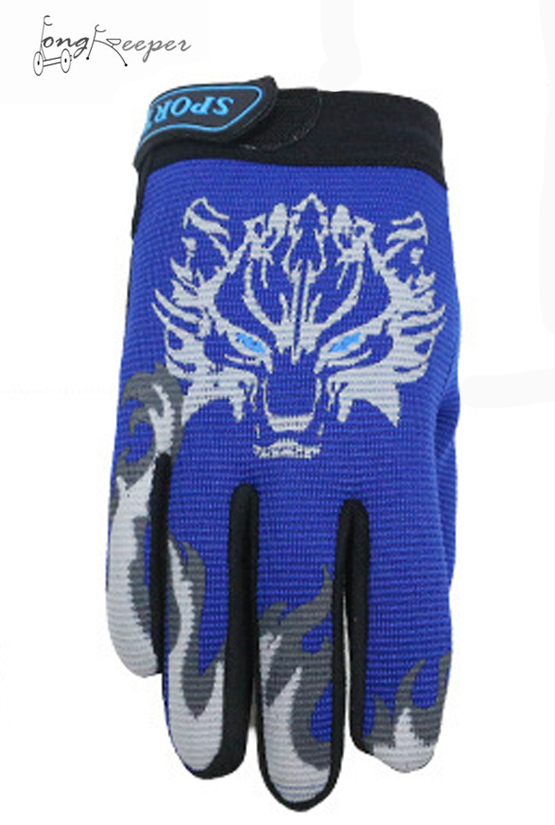 LongKeeper Winter Gloves For Kids Full Finger Breathable Non-Slip Cycling Gloves Children 5-13Y Warm Velvet Fabric Mittens racmmer cycling gloves guantes ciclismo non slip breathable mens