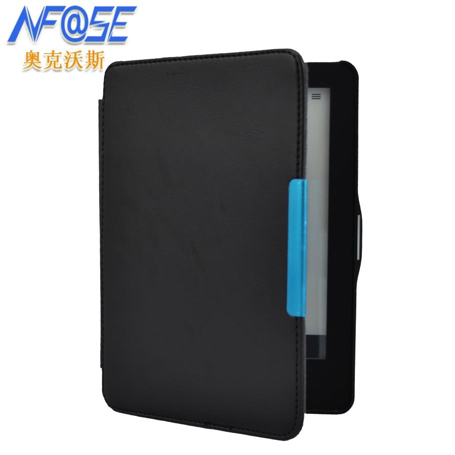 Smart hard slim leather case cover for Kobo Glo 6