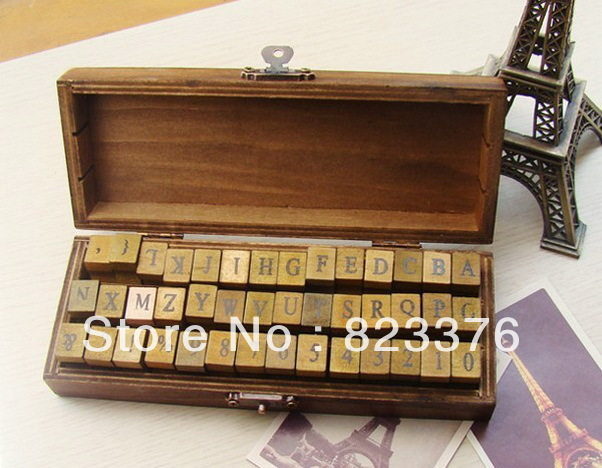 DHL Free shipping 40set 42 pcs/set Alphabet stamp Creative letters and numbers stamp gift box/wooden stamp/wooden box 006 alessandro birutti сумка 101 abir101 сер симф
