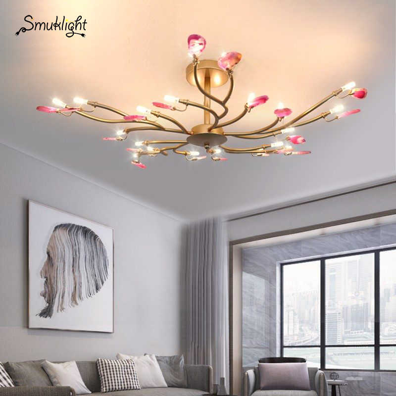Post modern G9 led Iron Agate Colorized LED Lamp LED Light Ceiling Lights LED Ceiling Light Ceiling Lamp For Dinning Room