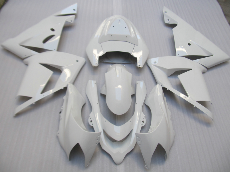 New hot moto parts fairing kit for Kawasaki Ninja ZX10R 04 05 white fairings set ZX10R 2004 2005 OT16