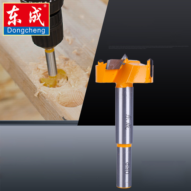 Dongcheng 16mm-65mm Forstner Tips Woodworking Tools Boring Wood Working Hole Opener Saw Cutter Hinge Drill Bit Bits Round Shank