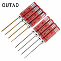 Top Quality White steel/Titanium Plating Red 4Pcs Hex Screwdriver Screw Driver Tool Kit Set For RC Car Aircraft Other Toys