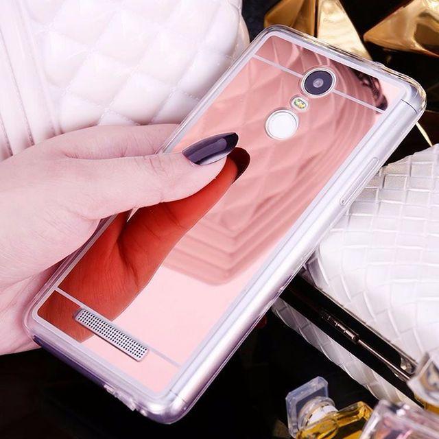 official photos 0e100 93ed2 US $1.41 29% OFF|Luxury Mirror Case For xiaomi Redmi Note 3 4 Pro Redmi 3S  Mi5 mi5S Plus Case Soft TPU Phone Silicone Back Cover Slim-in Half-wrapped  ...