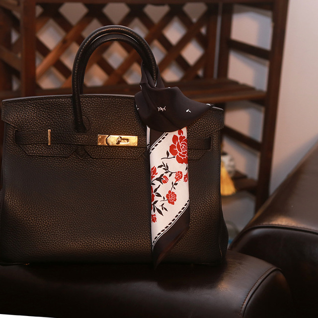japanese style office 80's new high quality japanese style silk scarf office lady handbag for women female girl