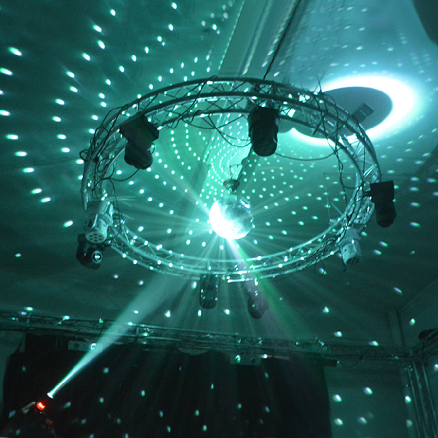 Thrisdar Dia20CM 25CM 30CM Reflective Glass Disco Mirror Ball With RGB Beam Pinspot Stage Lamp 110V 220V Disco DJ KTV Party Lamp in Stage Lighting Effect from Lights Lighting