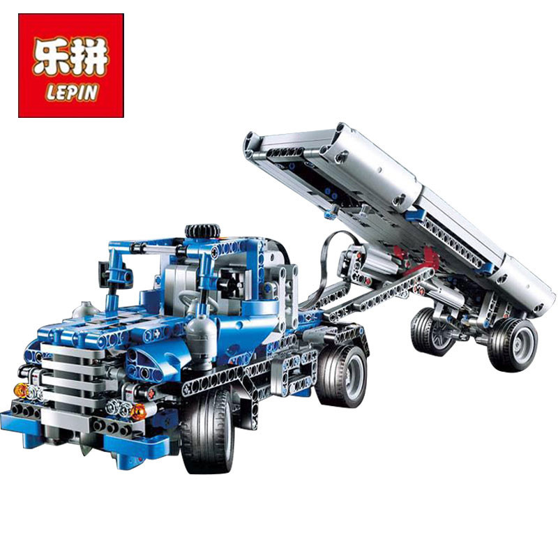 Lepin 20027 720Pcs Technic Mechnical Series The Container Truck Set Children Educational Building Blocks Bricks Toys Model 8052 hot selling foot care dead hard skin removal heels leg pedicure peeling machine scrub exfoliator with led rechargeable a5556