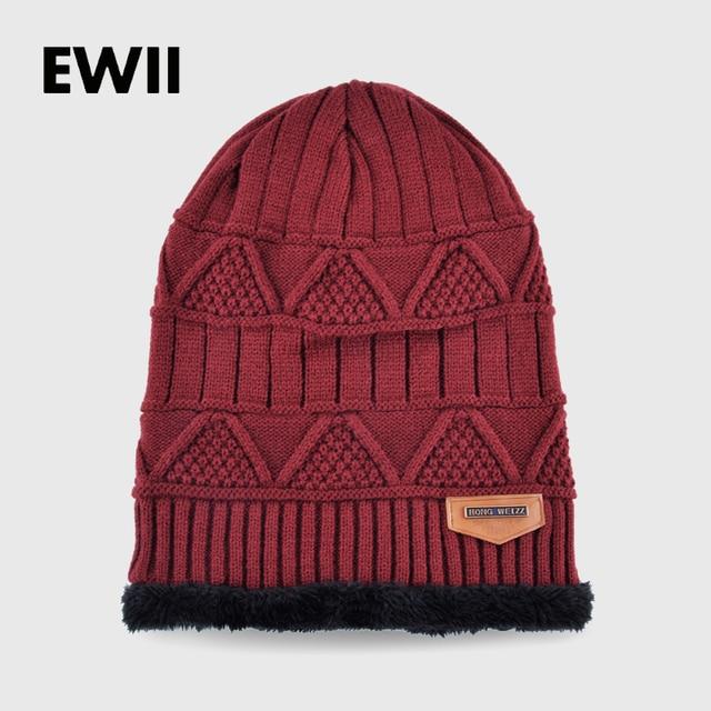 00f3e408 New knit wool winter hats for men winter beanie warm caps skullies men  knitted beanies cashmere hat boy bonnet cap gorro