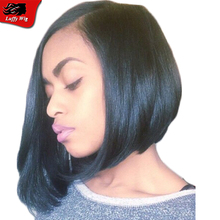 Glueless Brazilian U Part Wig Bob Side Part Straight Bob U Part Wigs Virgin Hair With Baby Hair Human Hair Wigs For Black Woman