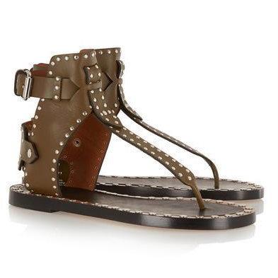 2017 New Summer Sandals Studded PU Leather Roman Gladiator Sandals Women Cut Outs Fashion Women Summer High Heels Platform Shoes