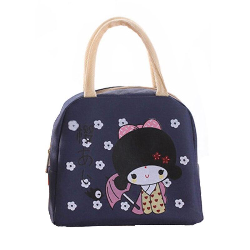 Wulekue Cartoon Portable3 lunch bag bolsa termica Food lancheira termica for Kids school
