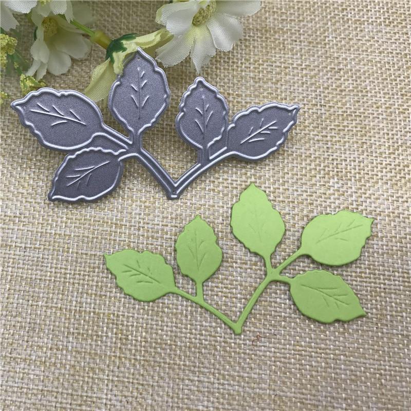 Leaf Leaves Decoration Metal Cutting Dies Stencil For DIY Scrapbooking Photo Album Embossing Paper Cards Crafts Die Cuts