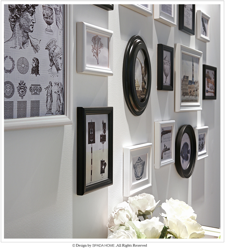 Photo frame set Black Good Wood Wall Frames Picture Frame Ideas Used ...