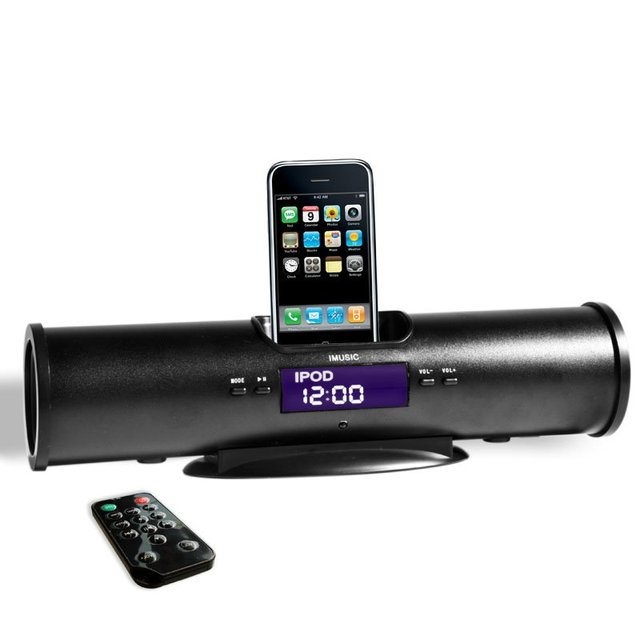 gift, for iphone docking station, for iphone speakers, for iphone docking speakers with fm lcd clock-IMUSIC5