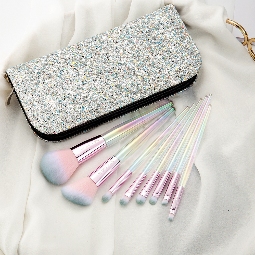 Women Makeup Brushes ENZO KEN (Drop Shipping) 8Pcs Blush Brush Powder Make up Brushes Set Professional